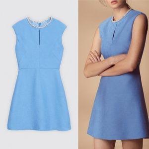 Sandro Paris Size 40 Rosalie Dress Light Blue